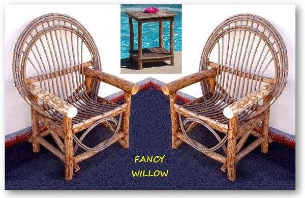 Pebble Beach Home Décor: Tahoe Farmhouse Set, 3 Pieces - Handcrafted Pool and Patio Furniture
