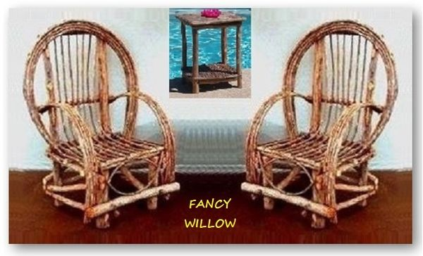 Pebble Beach Home Décor: Frontier Log Cabin Set, 3 Pieces - Handcrafted Pool and Patio Furniture