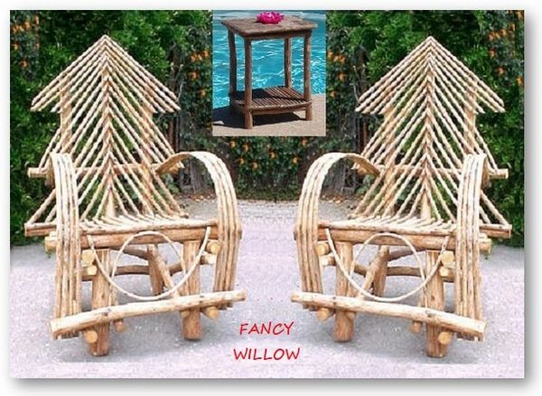 Pebble Beach Home Décor: Ponderosa Lakehouse Set, 3 Pieces - Handcrafted Pool and Patio Furniture