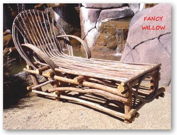 Sun Valley Country Home Décor: Chaparral Cottage Chaise Lounge - Handcrafted Pool and Patio Furniture