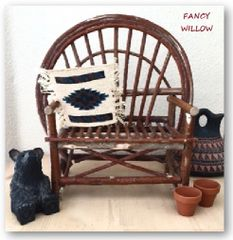 Auberge Country Home Décor: Tom Thumb Miniature Bench - Handcrafted Pool and Patio Furniture - Spring Fling