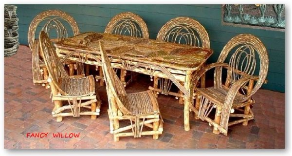 Stonebriar Country Home Décor: BellaFlor Great Room Dining, 7 Pieces - Handcrafted Pool and Patio Furniture
