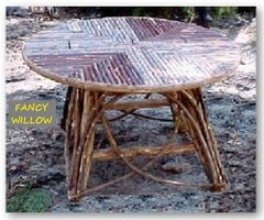 High Pointe Country Home Décor: Tom Thumb Log Cabin Rondo Stool - Handcrafted Pool and Patio Furniture