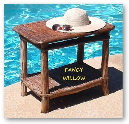 High Pointe Country Home Décor: Tahoe Resort Patio Table - Handcrafted Pool and Patio Furniture
