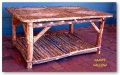 High Pointe Country Home Décor: Teton Resort Coffee Table - Handcrafted Pool and Patio Furniture