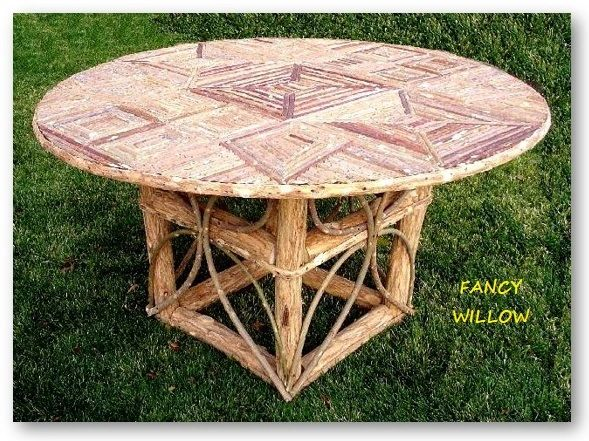 High Pointe Country Home Décor: Bel Air Dunes Dining Table - Handcrafted Pool and Patio Furniture