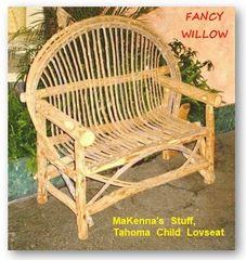 Eloise's Resort Children Furniture: MaKenna's Stuff, Child Loveseat - Handcrafted Pool and Patio Furniture