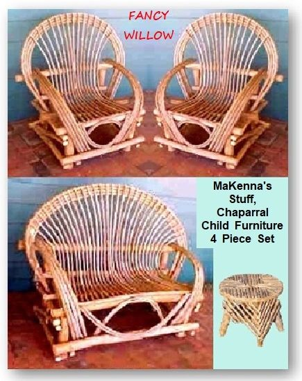 Eloise's Resort Children Furniture: MaKenna's Stuff, Child Back Forty, 4 Pieces - Handcrafted Pool and Patio Furniture