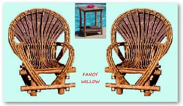 Pebble Beach Home Décor: Reno Cabin Set, 3 Pieces - Handcrafted Pool and Patio Furniture