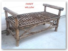 Auberge Country Home Décor: Calamity Jane Bench - Handcrafted Pool and Patio Furniture