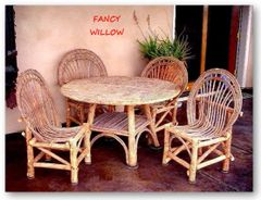 Stonebriar Country Home Décor: Tahoe Playa Cottage Dining, 5 Pieces - Handcrafted Pool and Patio Furniture