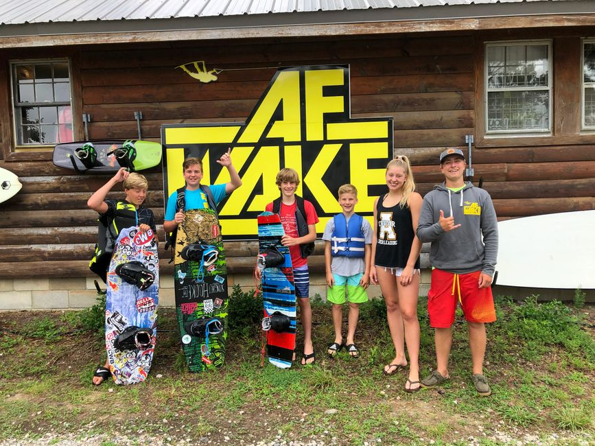 Wakeboard and Wakesurf Camps available at AF Wake on Lake Gaston North Carolina