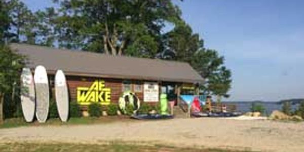 AF Wake boardshop on Lake Gaston displaying, tubes paddlebaords and watersport toys.
