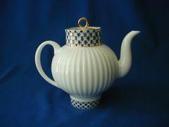 Cobalt Net Bone Teapot
