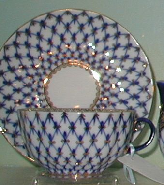 Cobalt Net Cup and Saucer