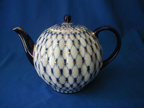 Cobalt Net Large Teapot