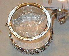 Fancy tea strainer