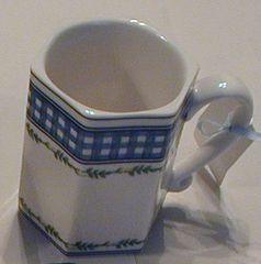Gingham mugs
