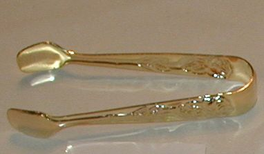Gold sugar tongs