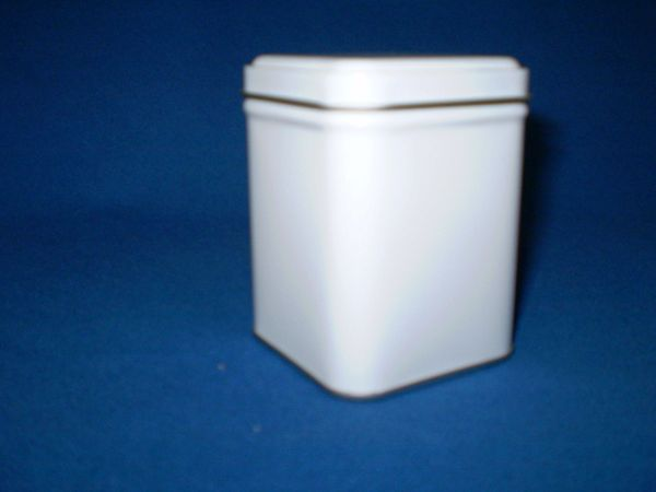 100 gram square tin White