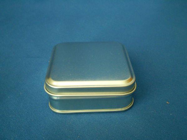 25 gram square tin silver