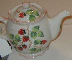 Strawberry tea pot