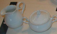 White Cream and Sugar set