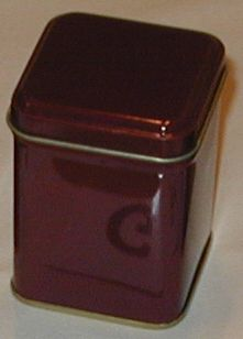 50 gram square tin Burgundy