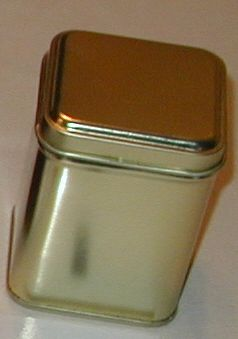 50 gram square tin Gold