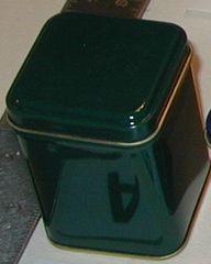 50 gram square tin Green
