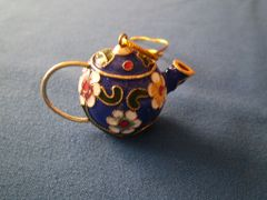 Mini Tea Pot Ornament Blue