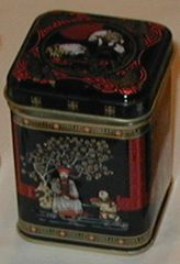 50 gram square tin Japanese Picture