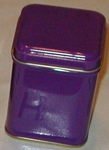 50 gram square tin Plum