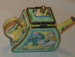 Enamel over copper painted tea pot Rooster