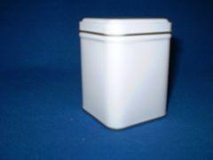 50 gram square tin White