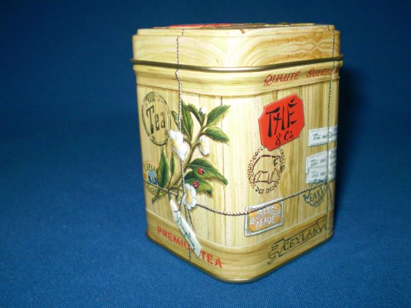 50 gram tea tin Colonial