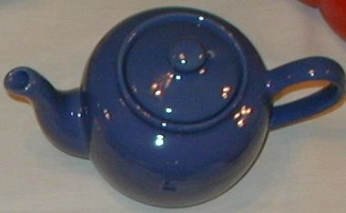 3 cup Medium Blue Teapot
