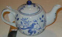 Blue On the Vine Tea Pot