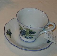 Blueberry cup and saucer