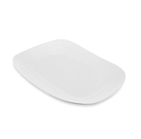 Mikasa 174 Swirl Rectangular Platter In White Would Like 2
