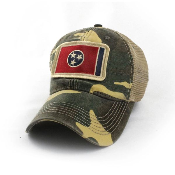 675e1dcd9 Tennessee Flag Patch Trucker Hat, Camouflage