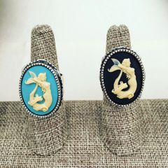 Mermaid Cameo Ring Adjustable