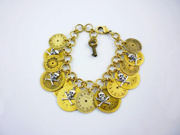 Vintage Watch Dial Charm Bracelet