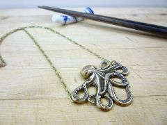Iconic Steampunk Octopus/Kraken Necklace