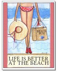Coastal - Beach Bum Boxed Note Cards