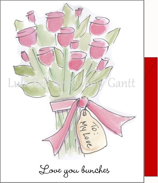 Valentine - Love You Bunches Greeting Card