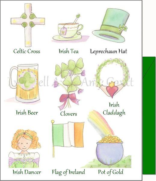 St. Patrick's Day - Symbols of the Irish Greeting Card