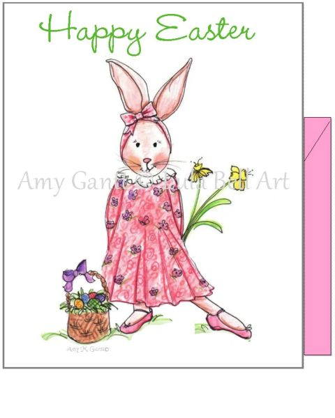 Easter - Miss Bunny Greeting Card