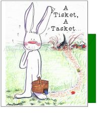 Easter - Bunny Lost His Eggs Greeting Card