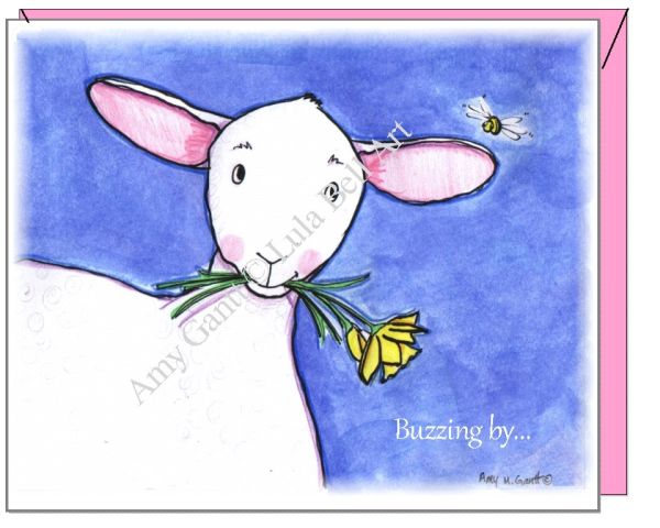 Easter - Spring Lamb Greeting Card